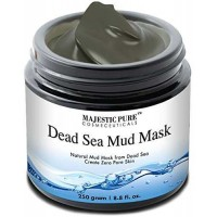 Majestic Pure Dead Sea Mud Mask 8.8 Oz - Spa's Premium Quality Facial Cleanser for All Skin Types - 100% Natural Formula, Absorbs Excess Oil and Removes Dead Skin
