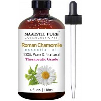 Chamomile Essential Oil From Majestic Pure, Roman Premium Quality, Therapeutic Grade, 4 fl Oz (118 ml)