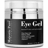 Eye Gel From Majestic Pure Offers Potent Anti Aging & Skin Firming Gel Cream 1.7 Fl Oz - For Dark Circle Eyes, Wrinkles, Eye Puffiness & Loss of Tone and Resilience