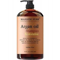 Argan Oil Shampoo from Majestic Pure Offers Vitamin Enriched Gentle Hair Restoration Formula for Daily Use, Sulfate Free, Moroccan Oil & Potent Natural Ingredients (473 ml)