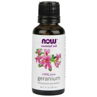 Now Foods Geranium Oil Egyptian, 1-Ounce (30 ml)