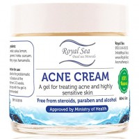 Royal Sea Dead Sea Natural Anti Acne Removal Cream [2oz] Treatment for Pimple and Spot on the Face Healing Face Skin for Oily, DRY and Sensitive face facial Skin for Men, Women, Baby and Kids Cleanser