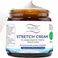 Best Natural Stretch Mark Scar Removal Cream and Skin Repair by Royal Dead Sea, Moisturizer with Supports Collagen Production During/ After Pregnancy or Weight Loss, Therapy Remover (4.05 oz)
