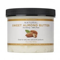 Sunaroma Sweet Almond Butter (16 oz) - Best Almond Butter for Skin Provides Deep Hydration and Helps Reduce Signs of Aging - Promotes Long, Shiny, Frizz-Free Hair
