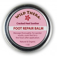 Wild Thera Herbal Cracked Heels Balm. Intensive Healthy Heel and Feet Repair Therapy. Promotes fast healing, exfoliates, moisturizes and softens skin. Great for calluses, corns, blisters, abrasions and more