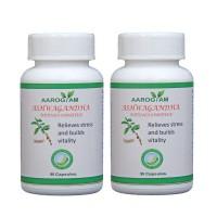 Aarogyam ASHWAGANDHA 500mg Capsules (180) Stress Relief