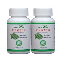Aarogyam KARELA 500mg Capsules (180) to control Blood Sugar