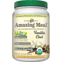 Amazing Grass Amazing Meal Vanilla Chai, 15 servings, 13.2 Ounces (375 gm)