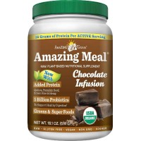 Amazing Grass Amazing Meal, Organic Chocolate Infusion Powder, Gluten Free, 15 Servings, 18.1-Ounce (514 gm)