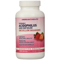 American Health Acidophilus and Bifidum Chewable Strawberry 100 Wafers - Digestive Health