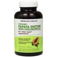 American Health Papaya Enzyme with Chlorophyll Chewable, 600 Tablets