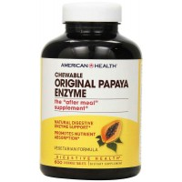 American Health Products Original Papaya Enzyme 600 Chewable Tablets