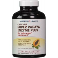 American Health Super Papaya Enzyme Plus, 360 Chewable Tablets