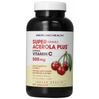 American Health Super Acerola Plus Vitamin C Chewable Wafers, 500 mg, Berry, 100 Wafers
