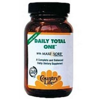 Country Life DAILY TOTAL One Maxi-Sorb Multi-Vitamins, with Iron, 60 Vegetarian Capsules