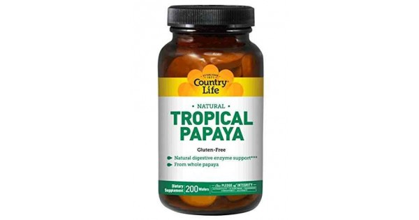 Buy Country Life Papaya Chewable Tablets 200 Digestive