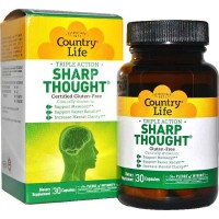 Country Life SHARP THOUGHT 30 Capsules - Memory, Mental Clarity