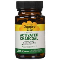 Country Life ACTIVATED CHARCOAL Capsules 260 mg, 100 Capsules