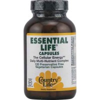 Country Life ESSENTIAL LIFE - The Cellular Energy DAILY Multi-Nutrient Complex, 120 Veg Capsules