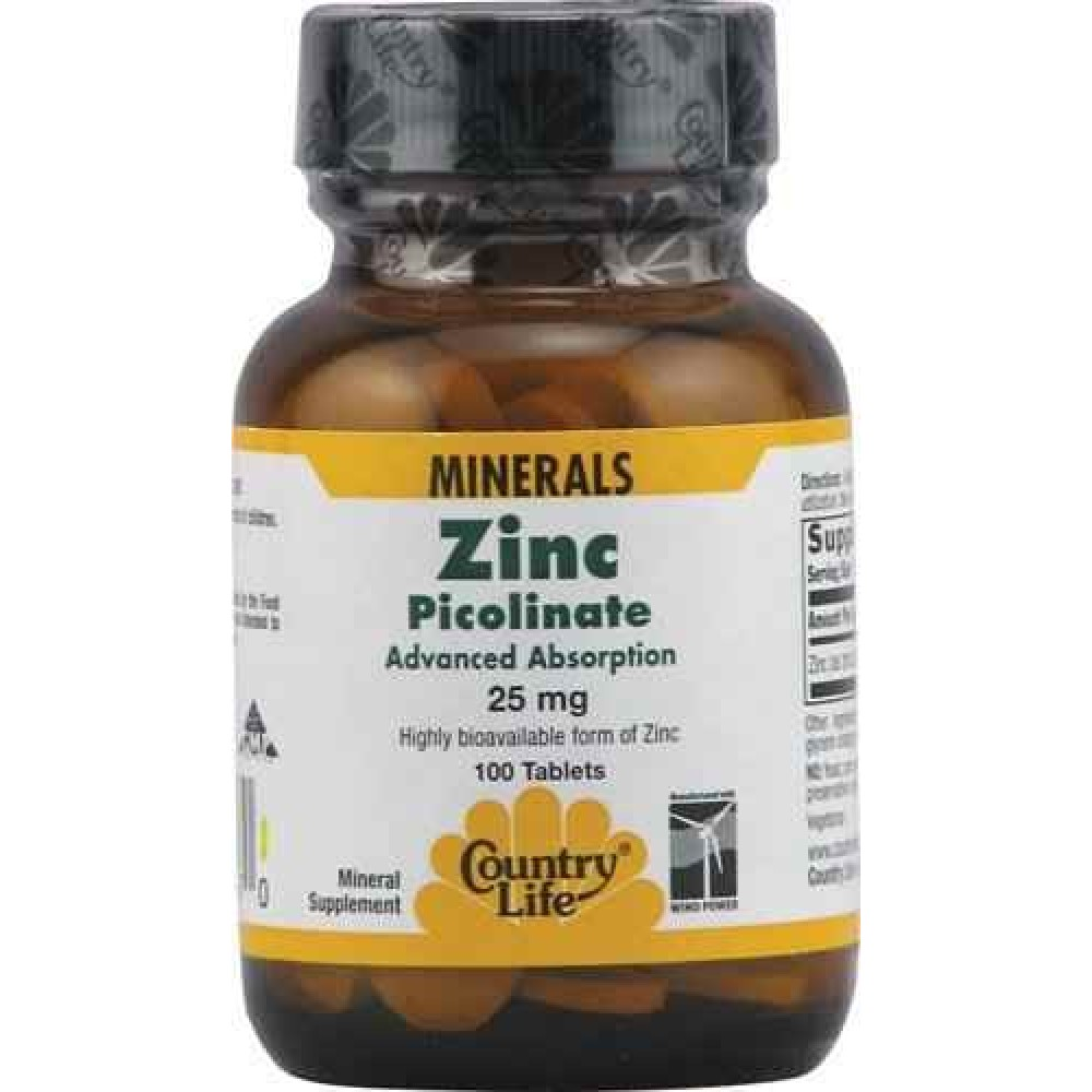 Buy Country Life Zinc Picolinate 25 Mg 100 Tablets Online India
