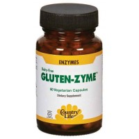 Country Life GLUTEN-ZYME 60 Veg Capsules - Wheat Digestion