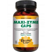 Country Life MAXI-ZYME 120 Veg Capsules - Digestive Aid