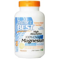 Doctor's Best High Absorption Magnesium (200 Mg Elemental) 240 Tablets