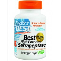 Doctor's Best High Potency Serrapeptase (120,000 Units) Veg Capsules