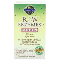 Garden of Life RAW ENZYMES WOMEN, 90 Veg Capsules - Digestive Enzymes