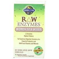 Garden of Life RAW ENZYMES WOMEN 50 & WISER, 90 Veg Capsules - Digestive Enzymes