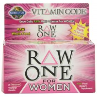 Garden of Life Vitamin Code RAW ONE for WOMEN, 75 Veg Capsules