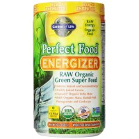 Garden of Life Perfect Food RAW - Energizer Raw Organic Green Super Food Powder, 282g