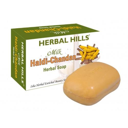 Herbal Hills Herbal Soap MILK CHANDAN 4 Pc Set
