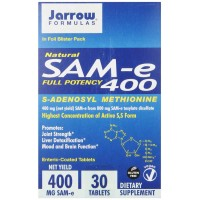 Jarrow Formulas SAM-e 400 mg, 30 Tablets - Joints, Liver, Positive Mood