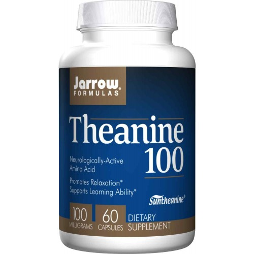 Jarrow Formulas Theanine 100, 100mg, 60 Capsules - Relaxation, Learning Ability