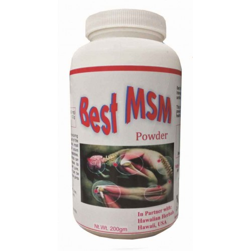 Hawaiian Herbal – Best Msm Powder 200 Gm Bottle