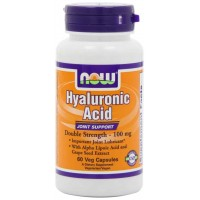 NOW Foods Hyaluronic Acid 100mg 2X Plus Veg Capsules - Joint Support