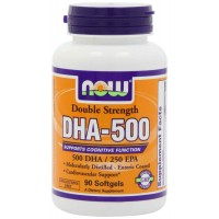 NOW Foods DHA-500 Softgels - Cardiovascular & Cognitive Support