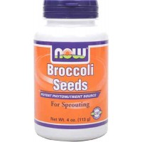 NOW Foods BROCCOLI SEEDS Sprout, 4 Ounce (113 gm) Bottle