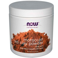 NOW Foods RED CLAY Powder Moroccan, 6 oz (170 gm)
