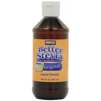 NOW Foods Better STEVIA Original Liquid Extract, 8 Ounce (237 ml) Bottle