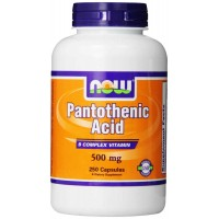 NOW Foods Pantothenic Acid 500 mg (Vitamin B5) Capsules (250)