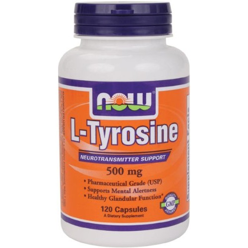 Now Foods L-TYROSINE 500 mg Capsules (120) - Supports Mental Alertness