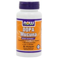 NOW Foods Dopa Mucuna Mood Support 15% L-Dopa, Veg Capsules (90)