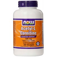 NOW Foods Acetyl L-Carnitine 500 mg Veg Capsules (200) - Cognitive Support