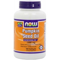 Now Foods Pumpkin Seed Oil 1000mg Softgels (100) - Prostate Health