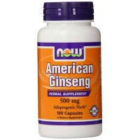 NOW Foods American Ginseng, 500 mg, 100 Capsules - Adaptogenic Herb
