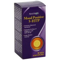 Natrol 5-HTP Mood Positive Tablets, 50 Tablets - Positive Mood, Relaxation