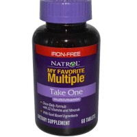 Natrol My Favorite Multiple Iron-Free Take One Multivitamin, 60 Tablets
