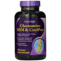 Natrol Glucosamine MSM Cetylpure 180 Capsules - Joints & Cartilage